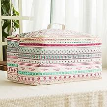 Caja de almacenamiento Beautiful Life * 1 x bolso bolsos fundas de almohadas decorativas ropa de cama bolsa de transporte para los edredones, mantas, ropa de cama, ropa de cama, almohadas, edredones plegable con tapa de 52 * 41 * 26cm (estilo elegante)