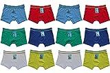 6 | 12 Stück Kinder Jungen Boxershorts Unterhosen Kids Unterwäsche Baumwolle 92-164 (128-134, Mehrfarbig 12 Stück)