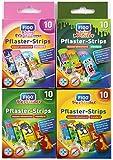 Kinder Pflaster Strips Bergmann 40 x, Wasserabweisend, Hautfreundlich, Klinisch getestet, bunte Pflaster für Mädchen und Jungs