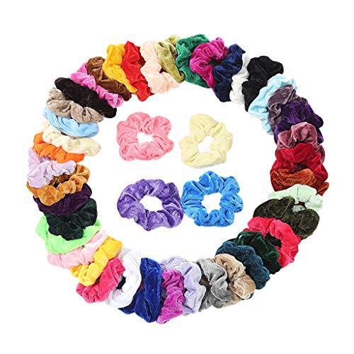 Bestyyo Stirnband elastisches Haarband elastisches Haarband Dame oder mädchen Haarschmuck Plus Tasche samt elastische Haarbänder für Frauen oder Mädchen Haarschmuck 45PCS (45PCS)