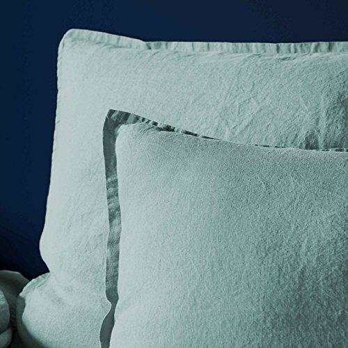 BLANC CERISE Taie d'oreiller en Lin lavé 50x70 cm