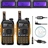 Baofeng GT-3TP Mark III 8W 2m/70cm UHF/VHF Dualband Walkie Talkie mit Programmierkable, 2 Stücke