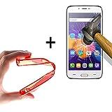 WoowCase | Flexible Gel Schutzhülle für [ Doogee Y200 ] [ +1 Schutzglas ] Hartglas, Doogee Y200 Hülle Case TPU Silikon in Rot