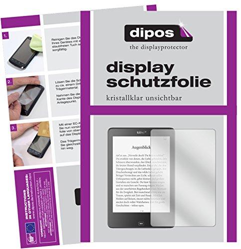 Tolino Epos eBook Reader Schutzfolie - 2x dipos Displayschutzfolie Folie klar
