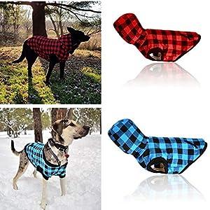 ProperLI-Vêtements Chaud d'hiver à Carreaux à Capuchon détachable Manteau en Coton de Chien,Manches Courtes,Vest Casual