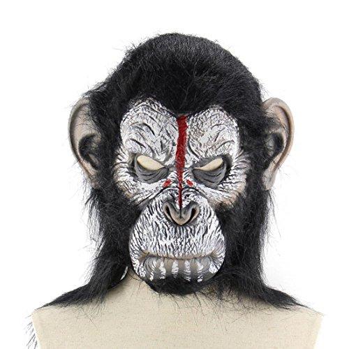 YYF Latex Orang-Utan Maske Gummi Creepy Scary Hässliche Kopf die Goonies Sloth Maske Halloween Party Kostüm Dekorationen
