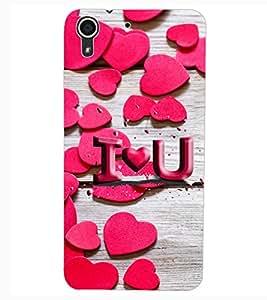 ColourCraft Love Pattern Design Back Case Cover for HTC DESIRE 626S