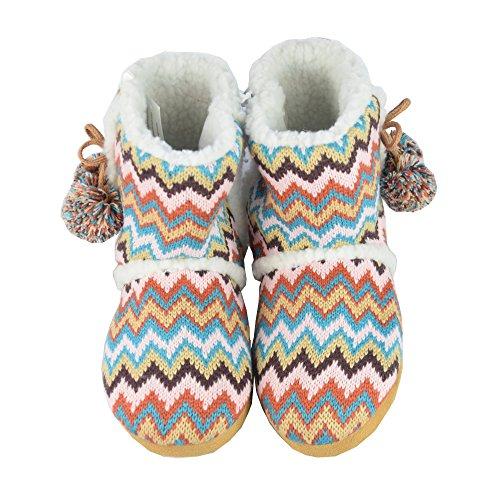 BTS–baita scarpe, pantofole, caldo foderato, da donna con pompon, colori: rosa, marrone, arancione Gr 37/38–41/42 Orange
