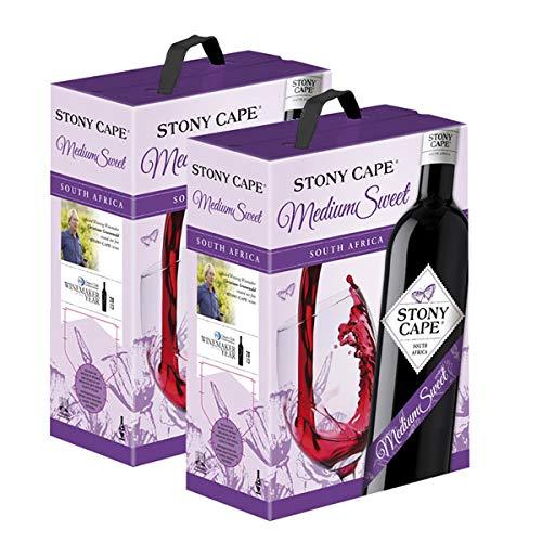 2 x Rotwein Südafrika Stony Cape Medium Sweet Cuvée Bag in Box (2x3,0l)