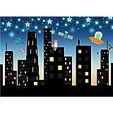 Daniu Estrellas Fotografía Fondos de fotos Super City Vinyl Digital Backdrops para el bebé 7x5FT 210cm X 150cm Daniu-sc007