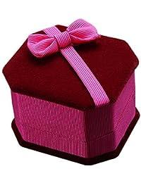 Joyas caja de regalo anillo con lazo pendientes pantalla caso de almacenamiento (bombillas)