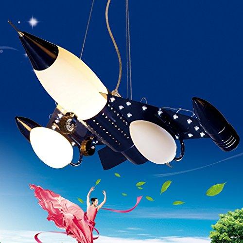 Guo Kinderzimmer Schlafzimmer Lichter Kämpfer Kreative Kronleuchter Junge Aircraft Lichter Metall E14 Lampe Hafen - 4