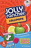 Jolly Rancher Heart Shaped Lollipops Valentine Exchange from USA, 20-Count,260 g(9.2-Ounce package)