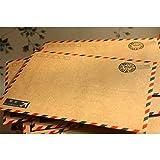 Kicode 10 hojas de las PC Correo aéreo del kraft del café antiguo Papel de almacenamiento de carta de sobres 7 * 5 '