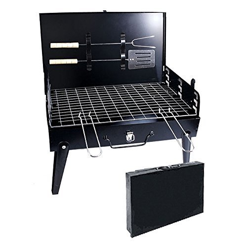 Alfa Mart Portable Briefcase Style Folding Barbecue Grill Toaster Barbeque (1 Pc)