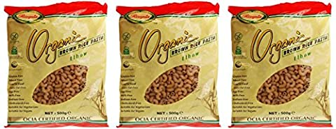 (3 PACK) - Rizopia - Organic Brown Rice Elbows | 500g | 3 PACK BUNDLE