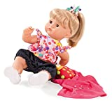 Götz 1518240 Maxy Aquini Pon Pon Badepuppe - Badebaby mit blonden Haaren, Blauen Schlafaugen in Einem 8-teiligen Set - 42 cm Mädchen-Babypuppe geeignet für Kinder ab 3 Jahren