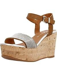Sandalias y chanclas para mujer, color marr�n , marca ALPE, modelo Sandalias Y Chanclas Para Mujer ALPE 12756S Marr�n