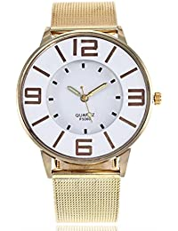 Relojes de Pulsera de Reloj de Correa de Mármol de Banda de Acero Inoxidable de Cuarzo Casual por ESAILQ