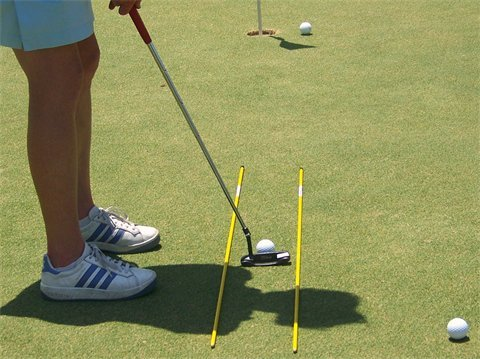 Golf & More Trainingshilfe Tour Sticks,Schwungtraining und Put Training, Golf Richtungshilfe Golfzubehör Golfgeschenke Handicap
