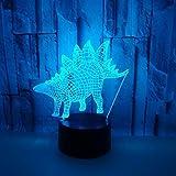 T-YXM 3D LED Dinosaure épée Dragon Mini Nuit lumière coloré dégradé Touch Lampe de Bureau USB Cadeau de Noël...