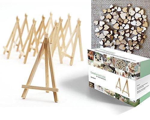 easelia-natura-conjunto-de-200-piezas-con-20-mini-caballetes-de-madera-de-165-cm-200-corazones-de-ma