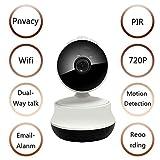 Plug & Play Babyphone Für Home Security Haustier,WLAN 720P HD IP Kamera,P2P IR Nachtsicht Netzwerk...