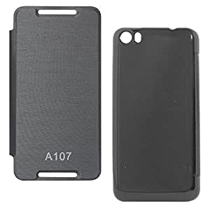 DMG PU Leather Flip Cover Case For Micromax Canvas Fire 4 A107 (Black)