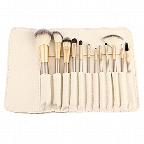 Anne 12 PCS Makeup Brush Set Professional Wood Handle Premium