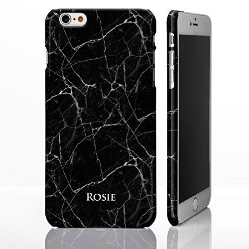 Coque personnalisée pour téléphone avec motif marbré et nom ou initiales gravées Coque pour iPhone avec brillance de pierre naturelle Design sur mesure par iCaseDesigner., plastique, Marble 20: Beige  Marble 19: Black with White Vein Marble