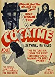 Vintage Anti-Cocaine Movie Propaganda COCAINE Strips the Soul Bare! Inflames the Senses! 250gsm A3 ART CARD Gloss Reproduction Poster by World of Art