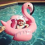 ZEEUPAI - Flamenco rosado Flotador de piscina inflable para niños Asiento flotante para bebé (Flamenco Rosado)