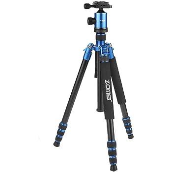 ZOMEi Z818 Trépied de Voyage Portable pour Appareil-Photo Digital/Caméra Video/Appareil Photo Reflex (Bleu)