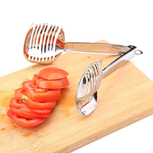 Uten Edelstahl Tomatenschneider Kartoffelschneider mit Griff, Zwiebel-Halter und Schneidemaschine von Gurken, Karotten und sogar hartgekochte Eier - 2