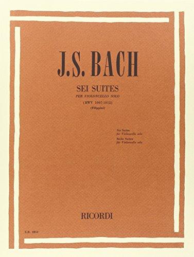 6 Suites Per Violoncello Solo Bwv 1007-1012 par Johann Sebastian Bach