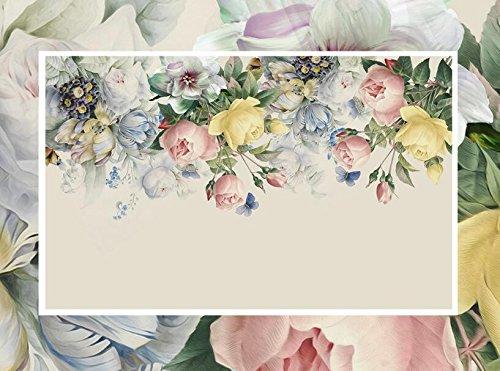 Xcmb 3D Tapeten 3D Wallpaper 3D Ästhetischen Schmuck Blumen Tv Hintergrund Wand Wohnzimmer Schlafzimmer Hintergrund 3D Wllpaper-350Cmx245Cm
