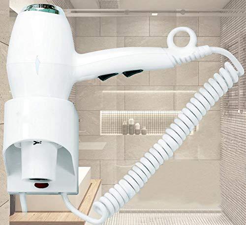 Wand-Haartrockner,6-Gang-Schaltregler Temperatur/1600W/Überhitzungsschutz/Thermostatische Haarpflege/Badezimmer-Haartrockner Schaltregler