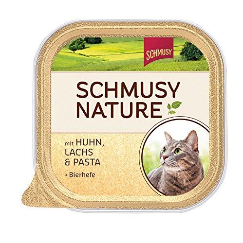 Schmusy Katzenfutter Nature Balance Huhn+Lachs 100 g, 16er Pack (16 x 100 g) (Balance Huhn)