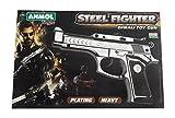 #9: Festive Items presents Anmol Toys Steel Fighter Diwali Toy Gun for Kids
