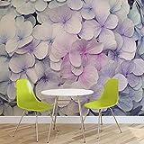 Blumen Hortensien Lila Rosa - Wallsticker Warehouse - Fototapete - Tapete - Fotomural - Mural Wandbild - (3121WM) - XXXL - 416cm x 254cm - VLIES (EasyInstall) - 4 Pieces