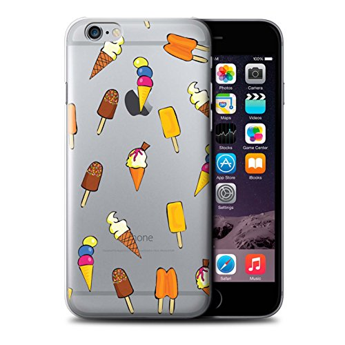 Stuff4 Hülle / Case für Apple iPhone 6+/Plus 5.5 / Pizza Muster / Stück Lebensmittel Kollektion Eis