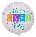 Ballongruesse - Helium Ballon Glückwunsch zur Geburt eines Jungen - 53cm Lieferung heliumgefüllt im Karton