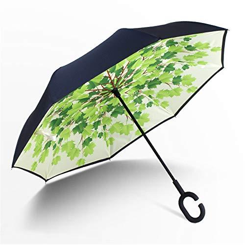 m, Innovative Schirme Double Layer Winddicht Regenschirm Freie Hand Taschenschirm Inverted Stockschirme mit C Griff für Reisen und Auto Outdoor ()