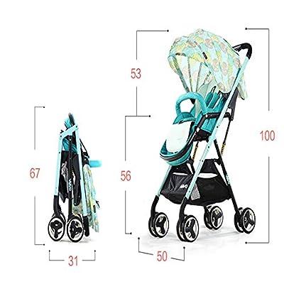 ZHAOHUIFANG Trolley, Leichte Faltbare Kinderwagen Können Sitzen Vier-Rad Stoßdämpfer Neugeborenen Buggy Sitzen