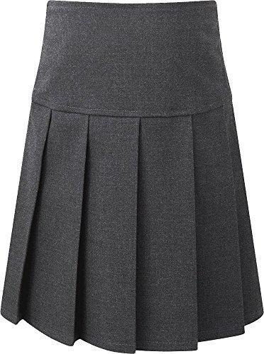 Junior Mädchen Schulanfang Uniform Schulkleidung niedrige Taille Messer Falten Rock - grau, 8-9 Years (Junior-uniform Die)