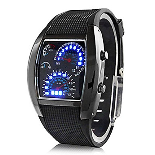 Jiffy Digital Black Dial Men's Watch