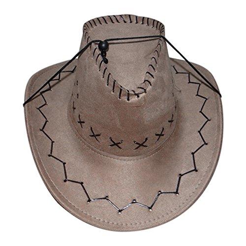 02ff0d44d6cfa Sombrero - SODIAL(R)Retro Unisex Sombreros accesorio del vestido de lujo de  Rodeo