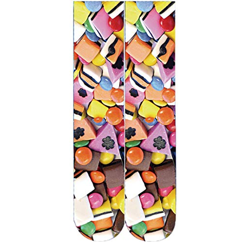 Xmiral Calze Calzini Coppia Calze da Skateboard con Tubo Lungo a Tubo Corto Uomo Donna G-Multicolore