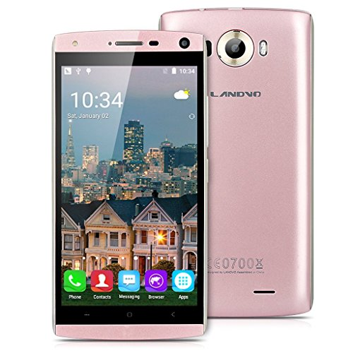 Landvo V11 - 3G Smartphone Libre Android 5.1 (5.0'' QHD, Dual Sim, Quad Core 1.3Ghz, 4Gb, 1Gb Ram, Camara 5Mp, Smart Wake, GPS WIFI Bluetooth) (Oro