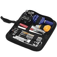 7°MR Bicycle repair tool 146PCS Professional Watch Repair Tool Kit Watchmaker Case Opener Remover Spring Bar Set Carry Bag
